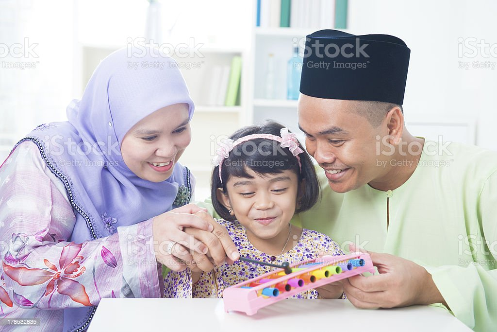 Southeast Asian family royalty-free stock photo
