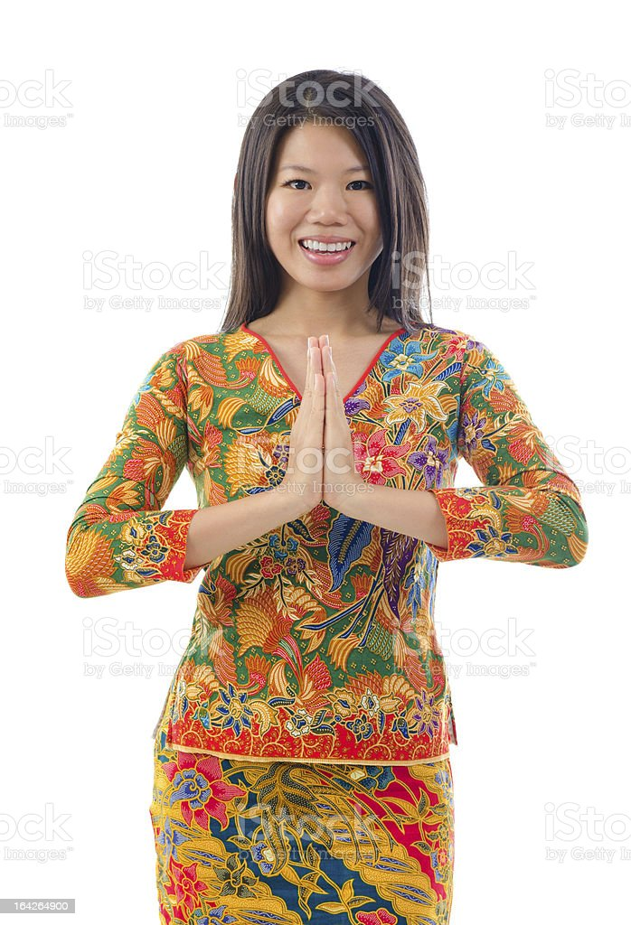 Southeast Asian female royalty-free stock photo