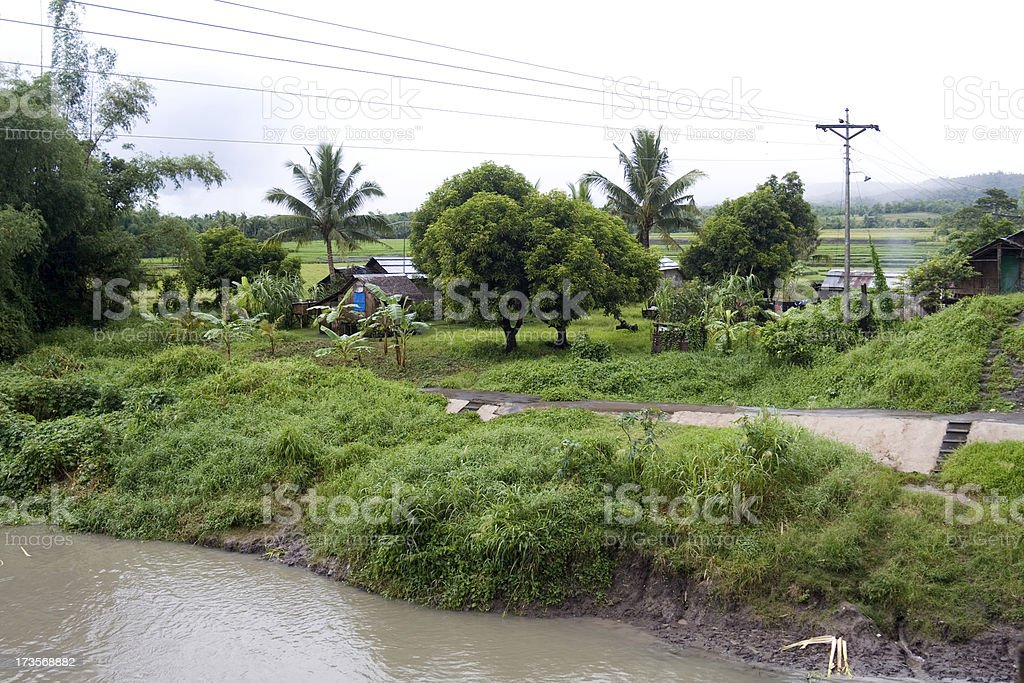 South-East Asian village royalty-free stock photo