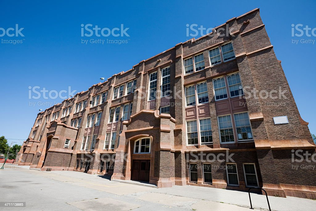 Southeast Chicago School in Pullman, Chicago stock photo