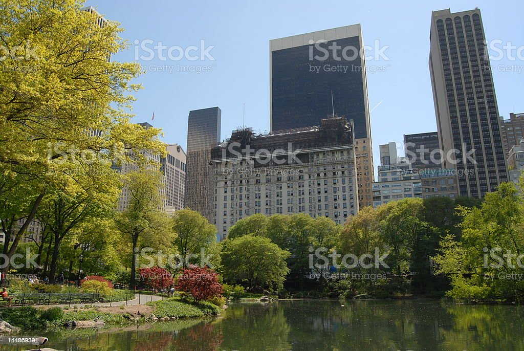 South-east corner of Central Park stock photo