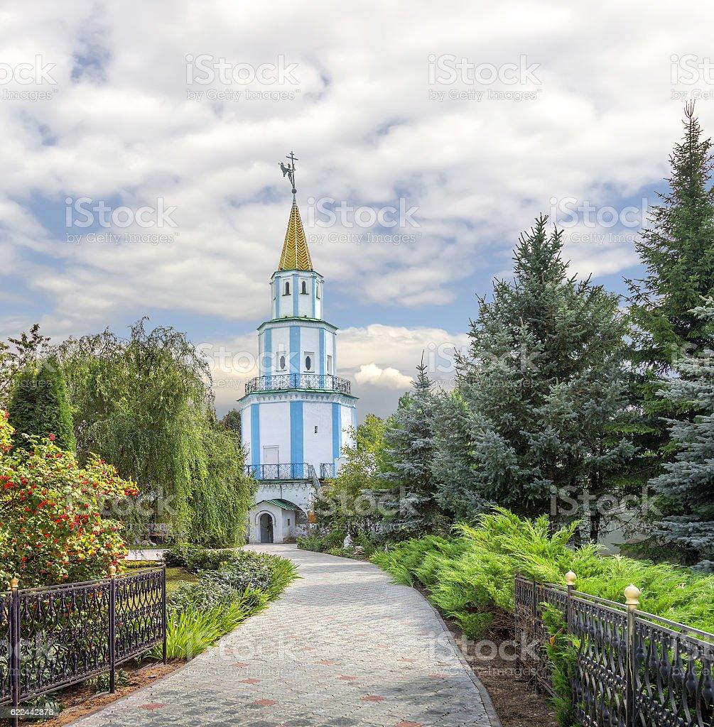 South-east tower of Raif monastery. Kazan, Tatarstan, Russia. stock photo