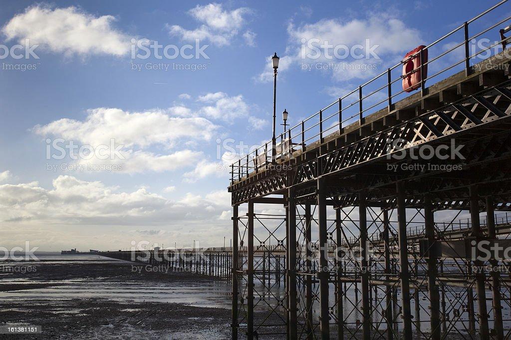 Southend Pier, Essex, England royalty-free stock photo