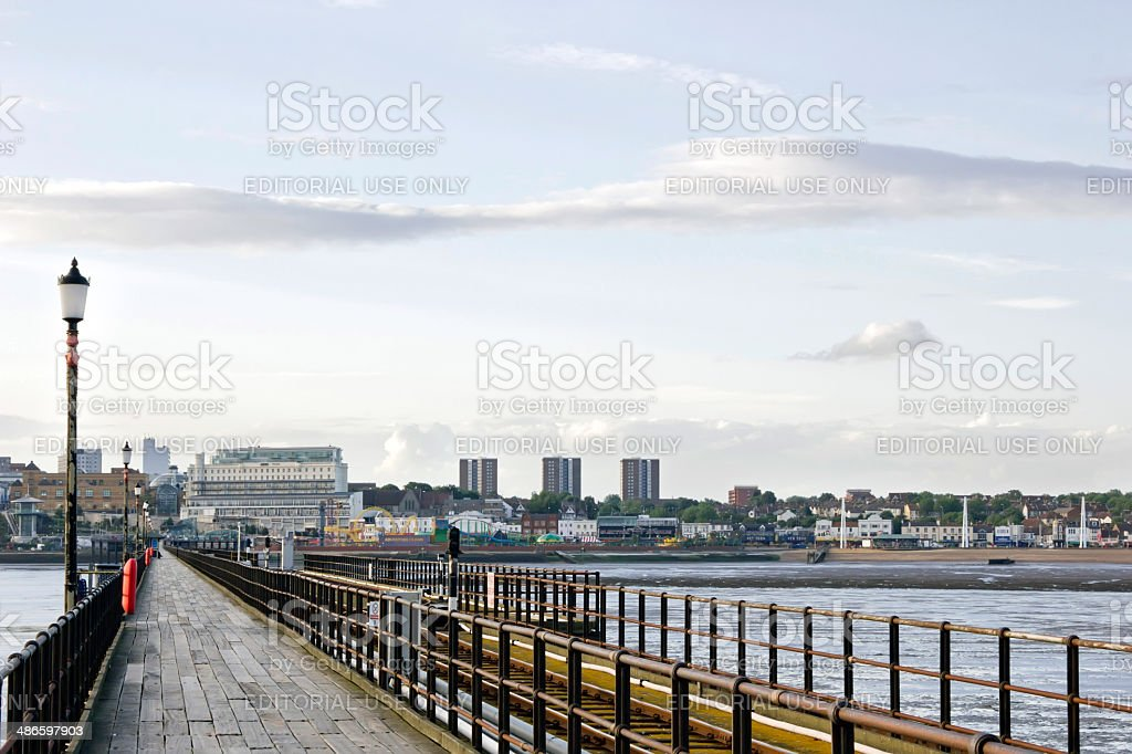 Southend-on-Sea Pier, Essex, England stock photo