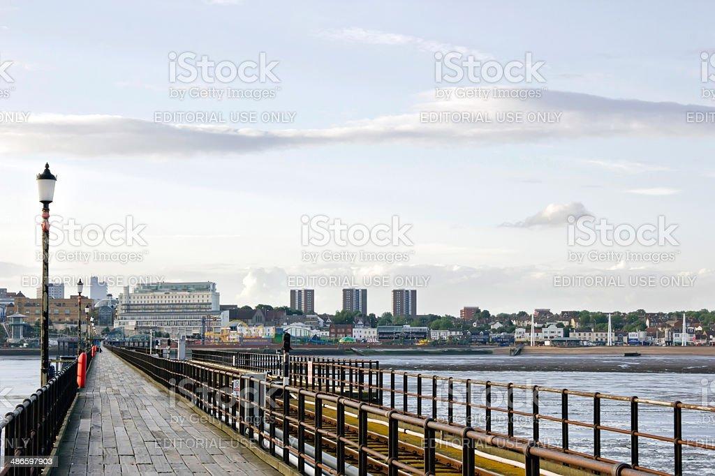 Southend-on-Sea Pier, Essex, England stock photo