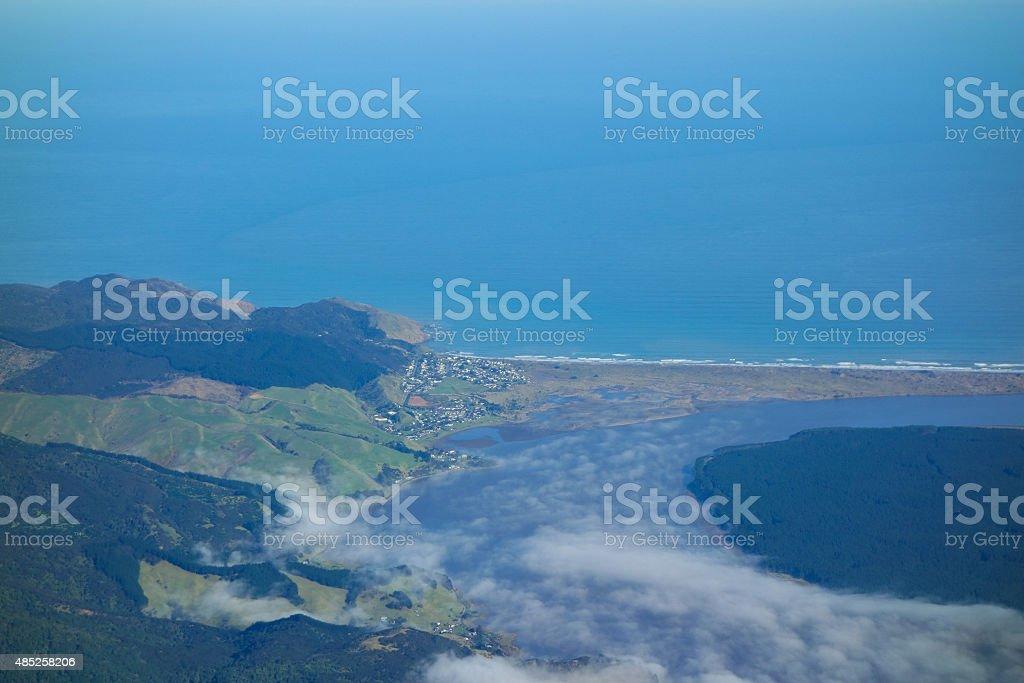 Southern Alps in Taranaki stock photo