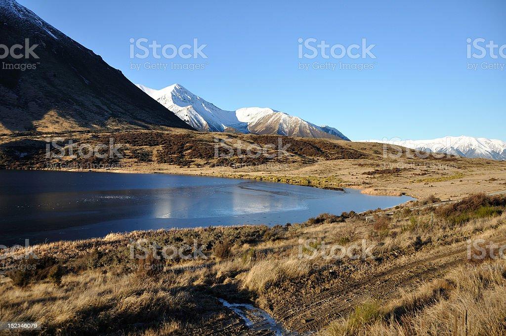 NZ Southern Alps stock photo