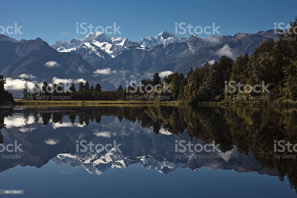Southern Alps Reflection stock photo