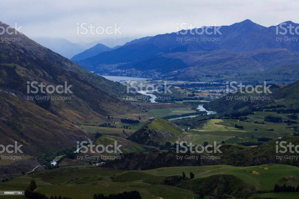 Southern Alps road stock photo