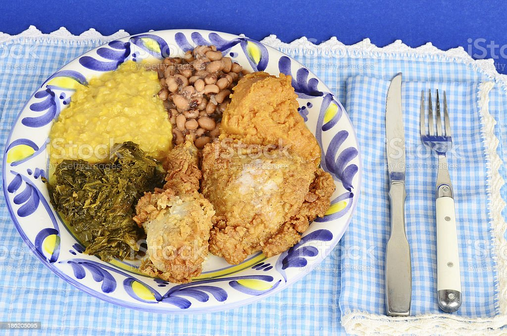 Southern Blue Plate Special stock photo