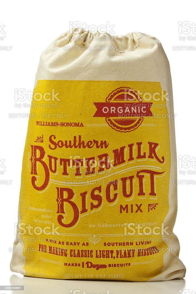 Southern Buttermilk Biscuit Mix in a Muslin Bag stock photo