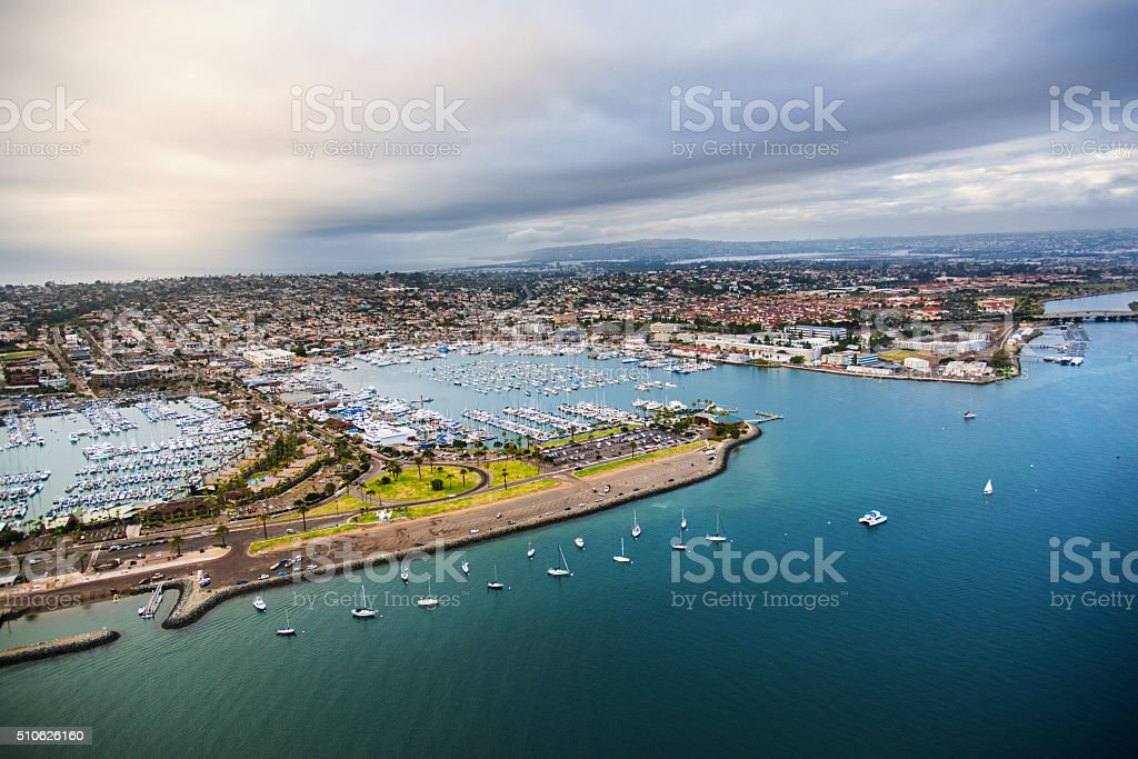 Southern California Bay and Marina - San Diego stock photo
