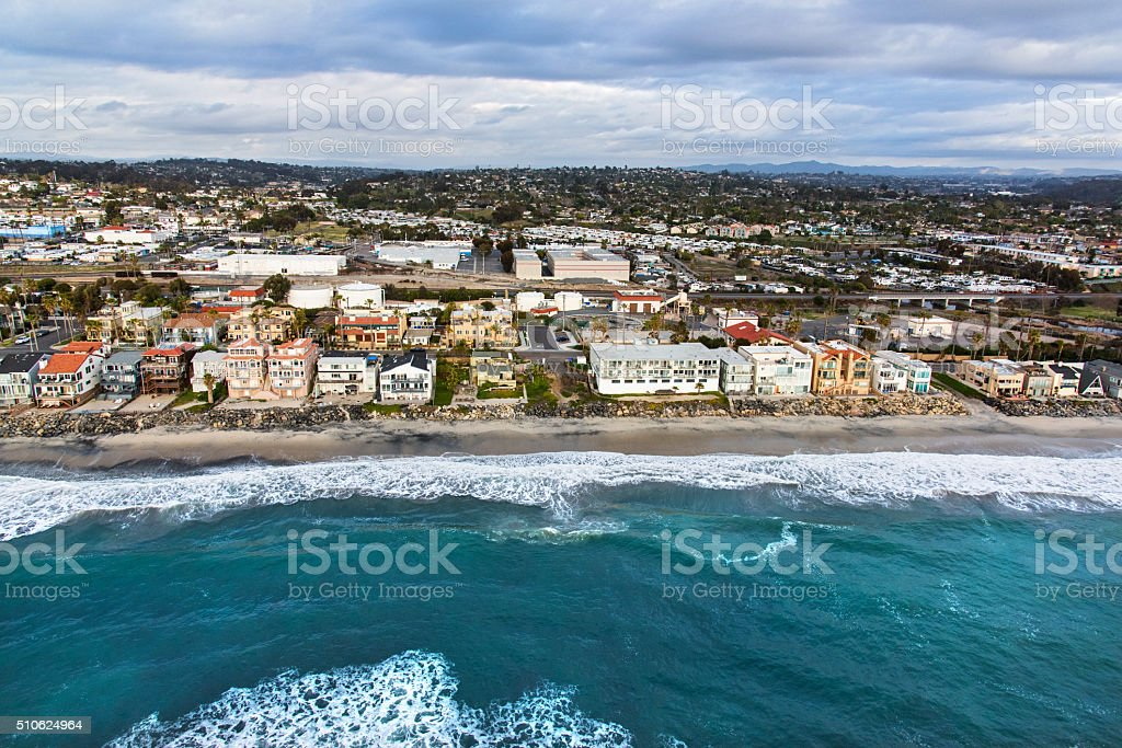 Southern California Beach Front Homes stock photo