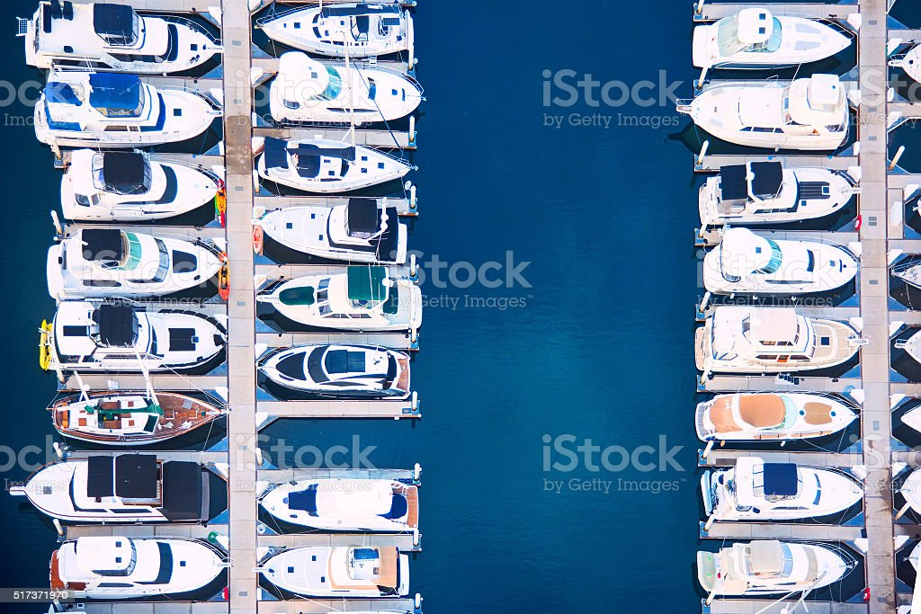 Southern California Marina Detail From Above stock photo