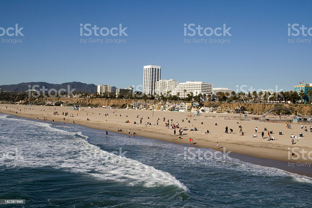 Southern California - Santa Monica Beach royalty-free stock photo