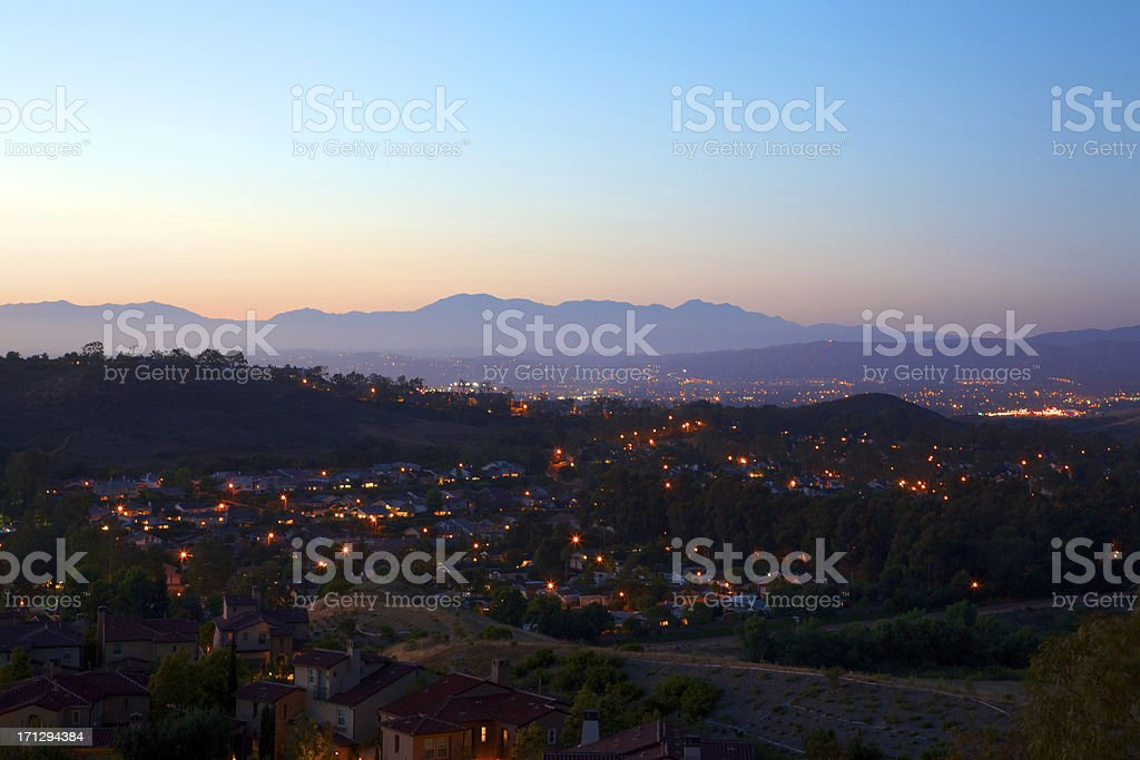 Southern California Suburb landscape royalty-free stock photo