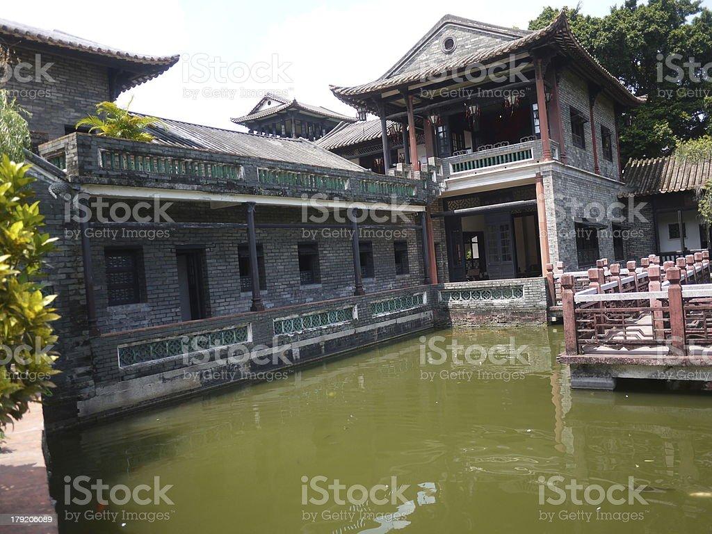 Sud de la Chine avec vue sur le jardin photo libre de droits