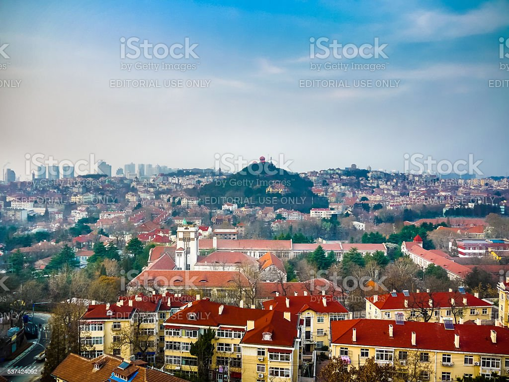 Southern cityscape of old town in Qingdao stock photo