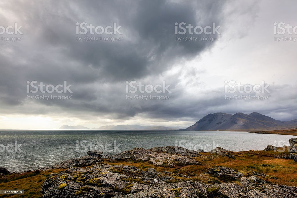 Southern coast of Iceland stock photo