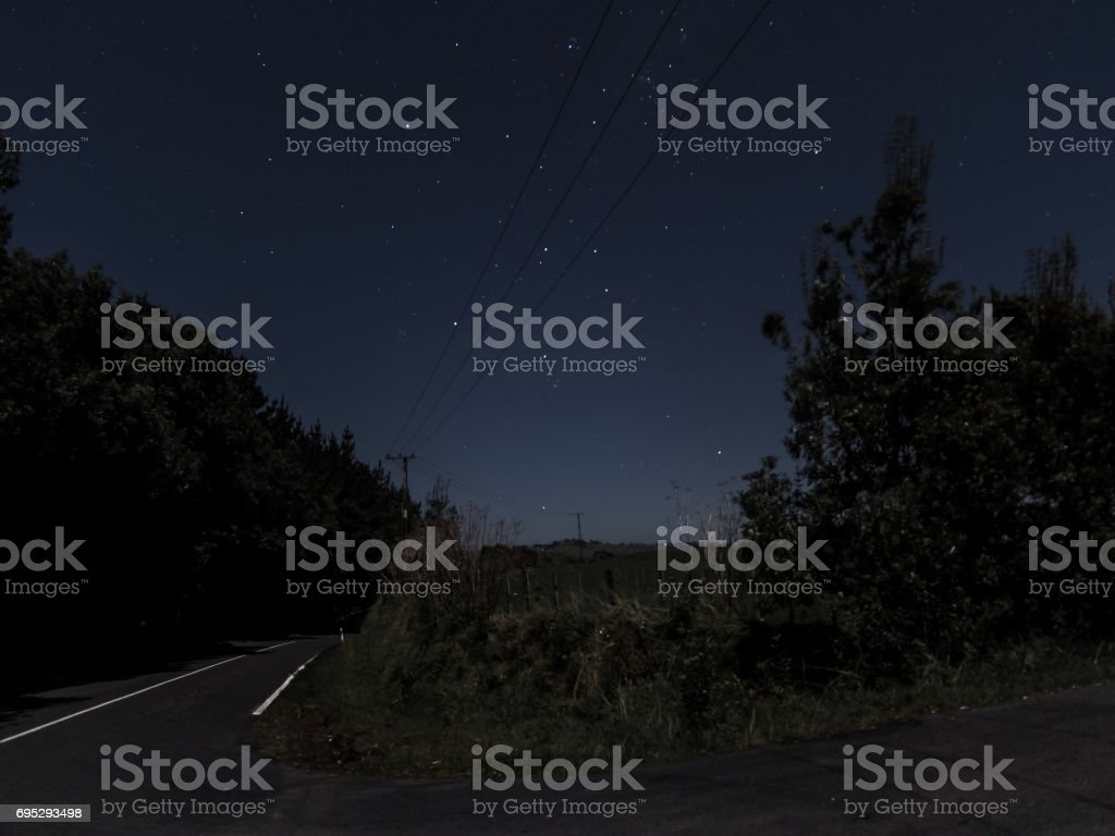 Southern Cross from New Zealand Roadside stock photo