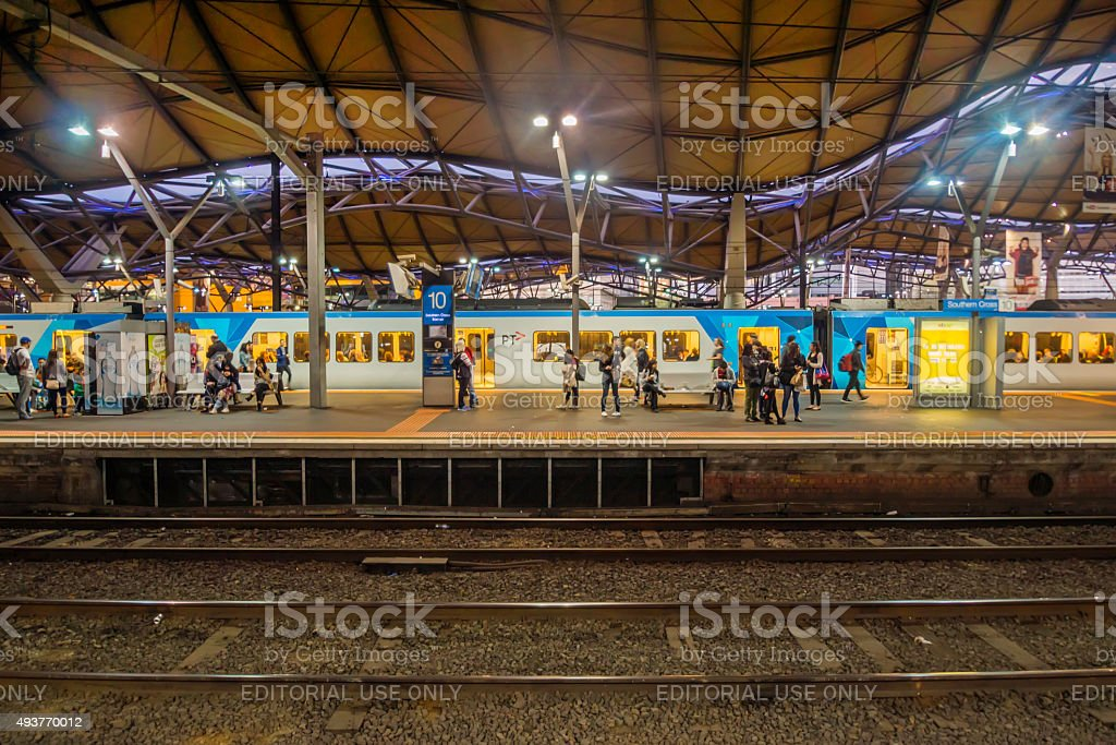 Southern Cross Station stock photo