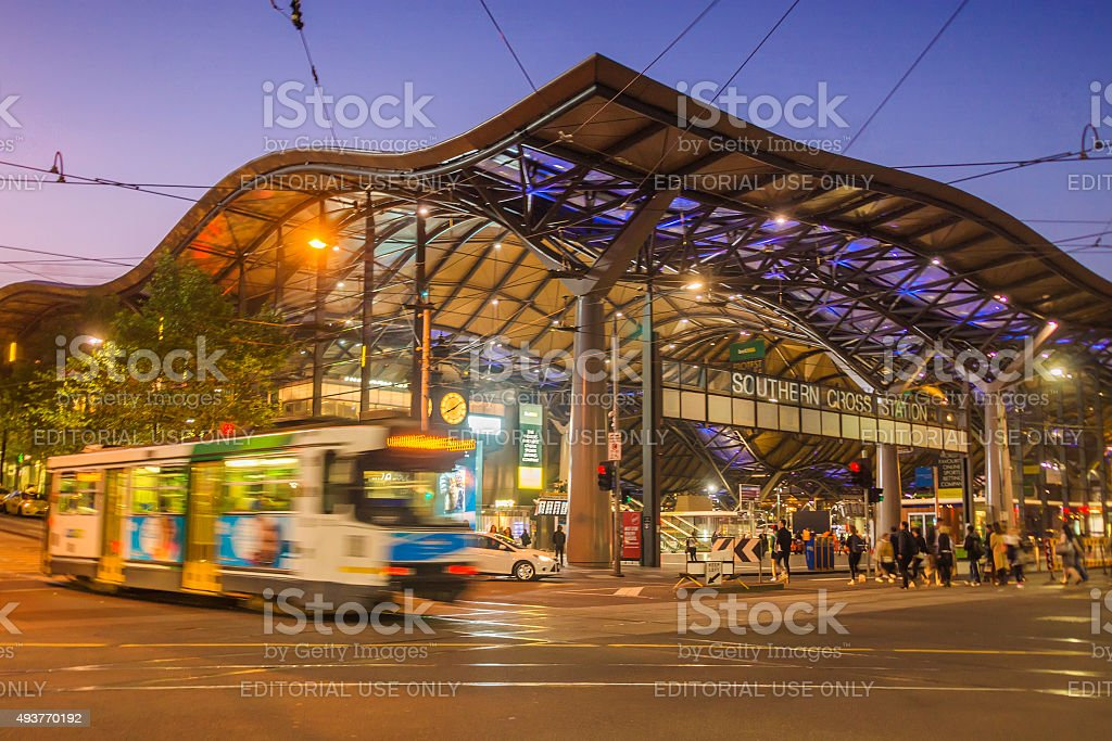 Southern Cross Station stock photo