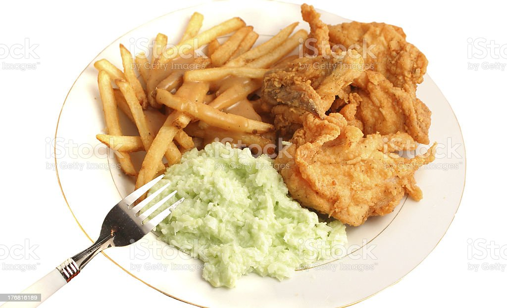 Southern fried chicken dinner royalty-free stock photo