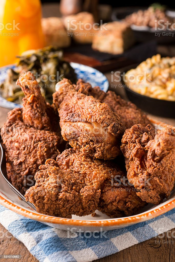 Southern Fried Chicken stock photo