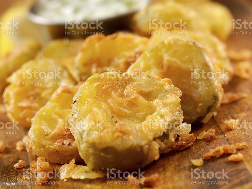 Southern Fried Pickles stock photo
