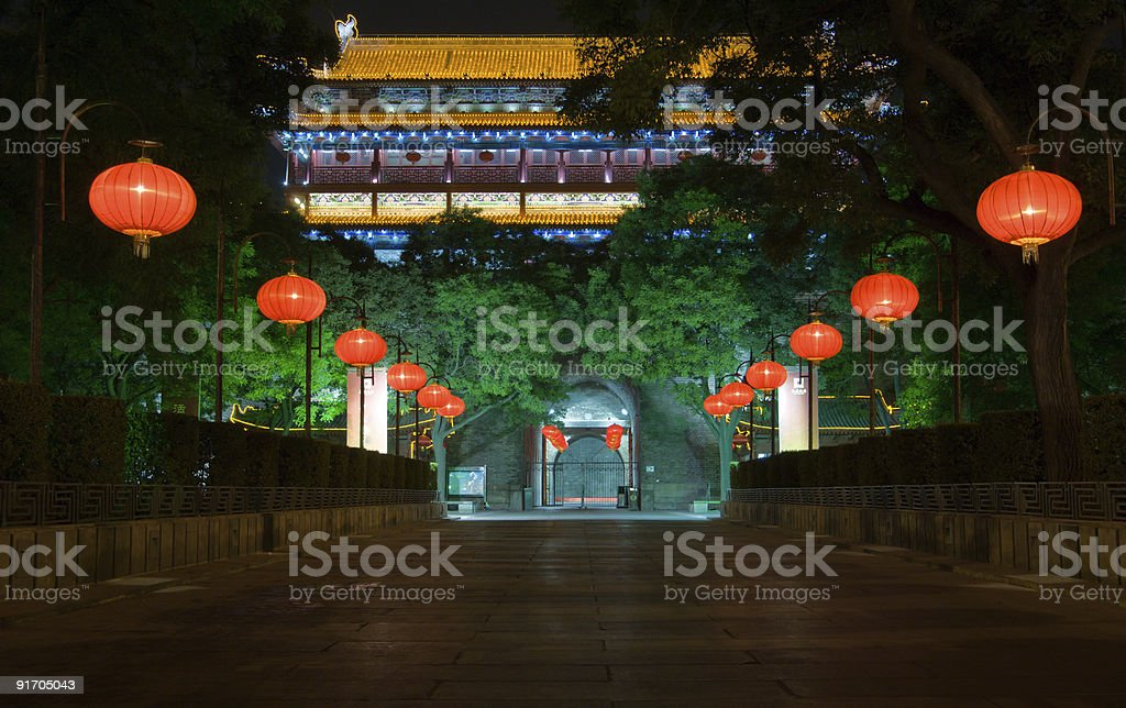 Southern gate at night royalty-free stock photo