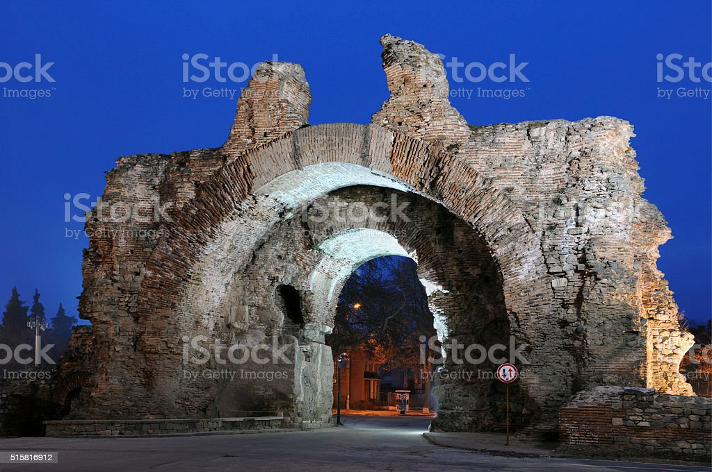 Southern Gate in Hissar stock photo