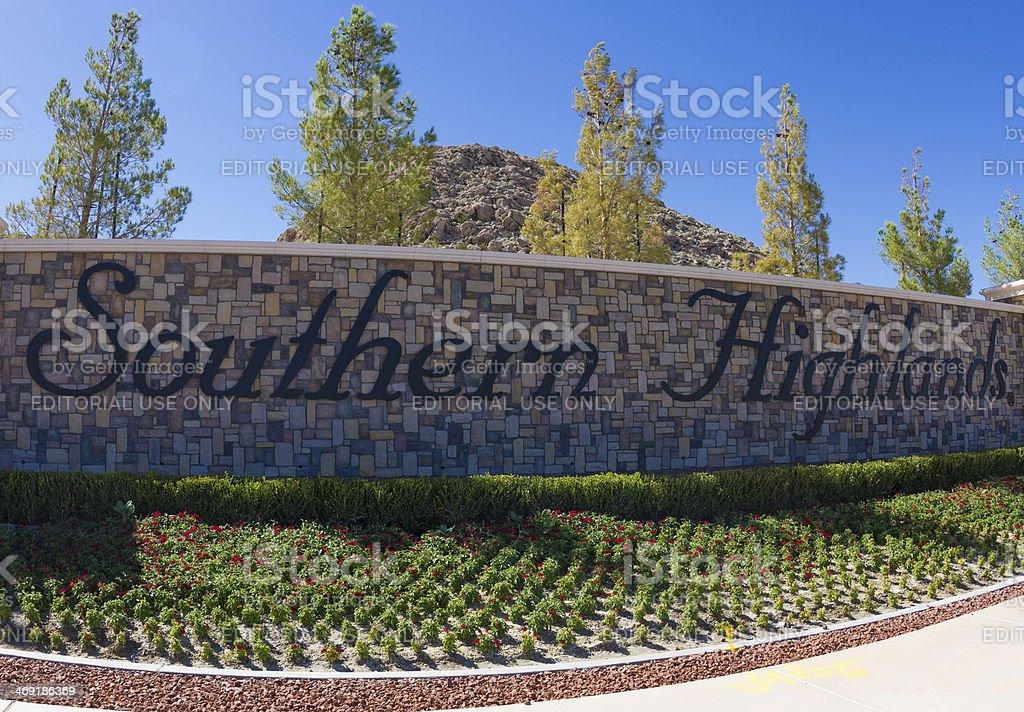 Southern Highlands - Las Vegas stock photo