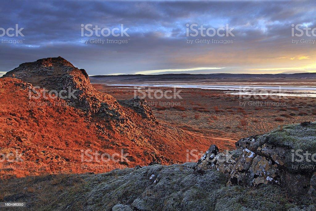 Southern iceland sunrise royalty-free stock photo