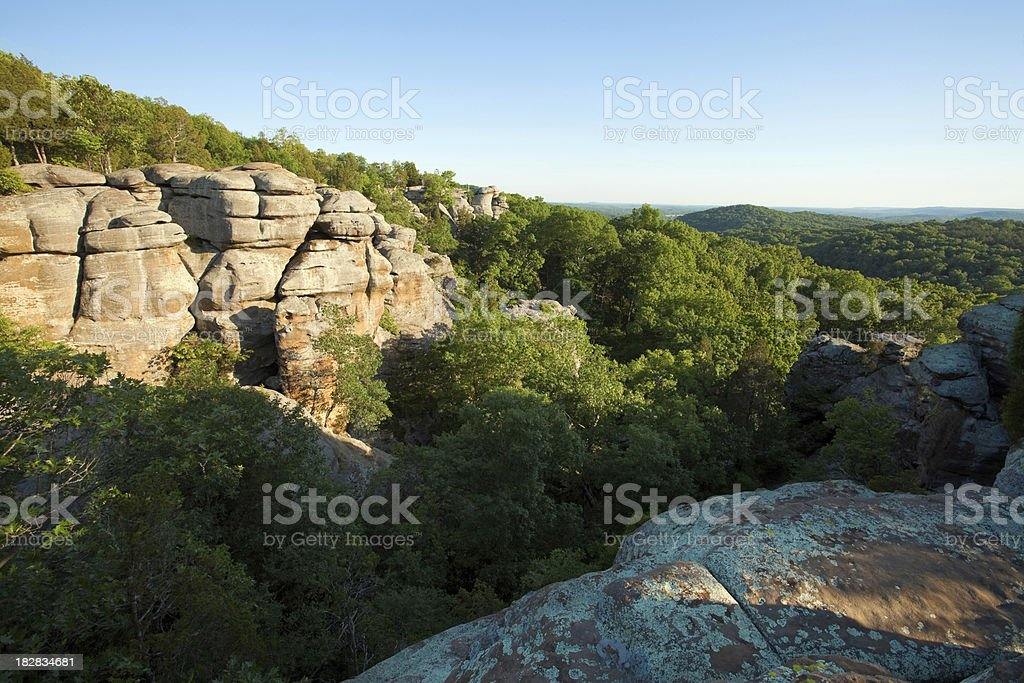 Southern Illinois - Garden of the Gods stock photo