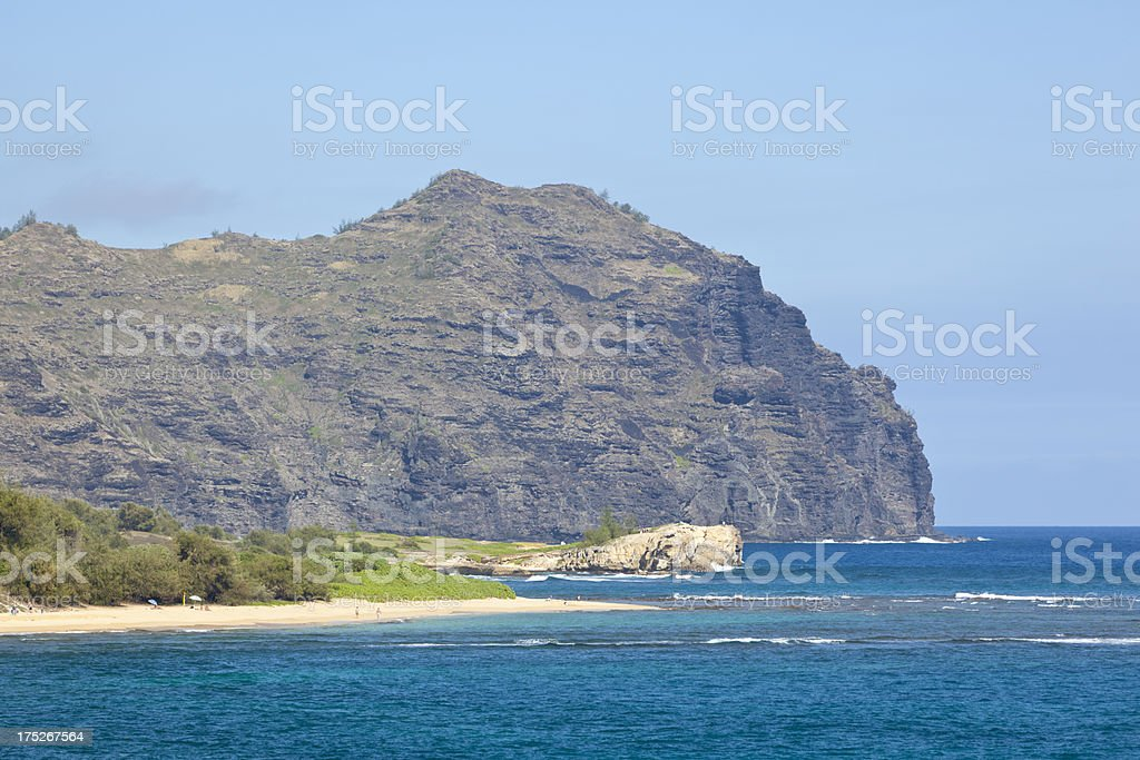 Southern Kauai Coast, Hawaii royalty-free stock photo