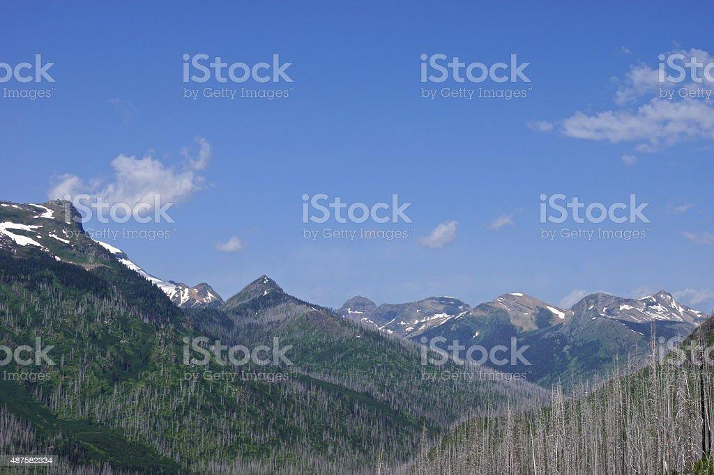 Southern Livingston Range Remote stock photo