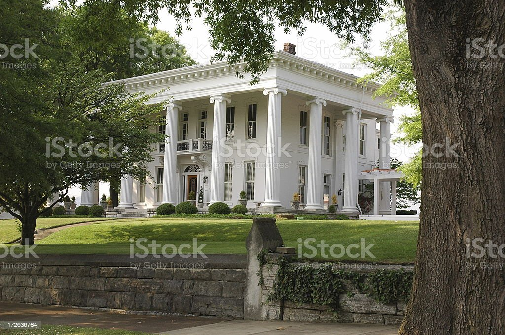 Southern Mansion royalty-free stock photo