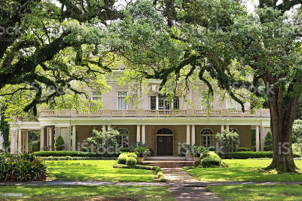 Southern Mansion stock photo