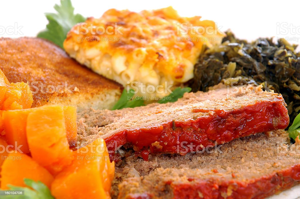 Southern meatloaf stock photo