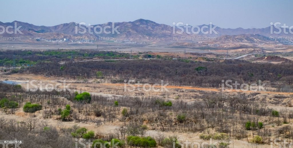 Southern North Korea stock photo