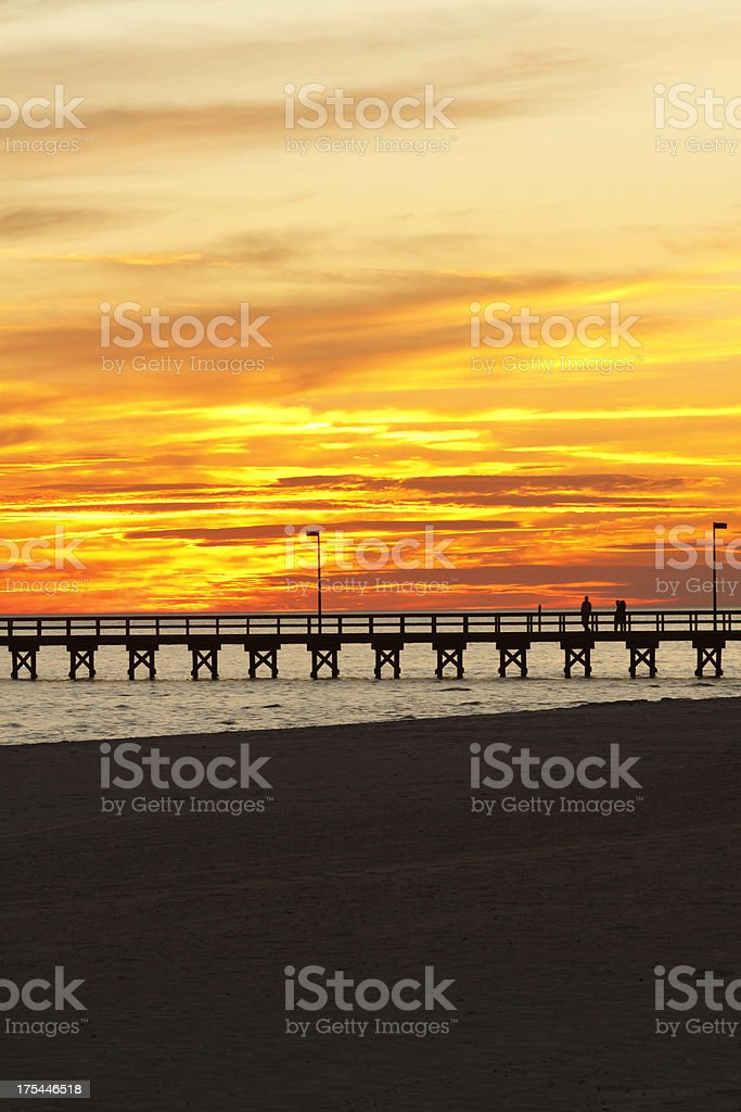 Southern Pier At End Of The Day stock photo
