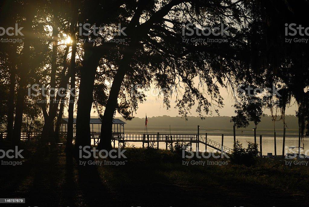 Southern River at Dawn royalty-free stock photo