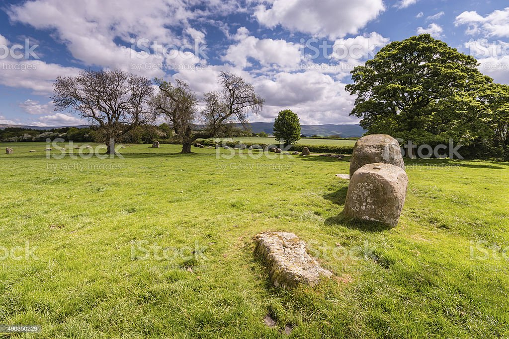 Southern side of stone circle stock photo