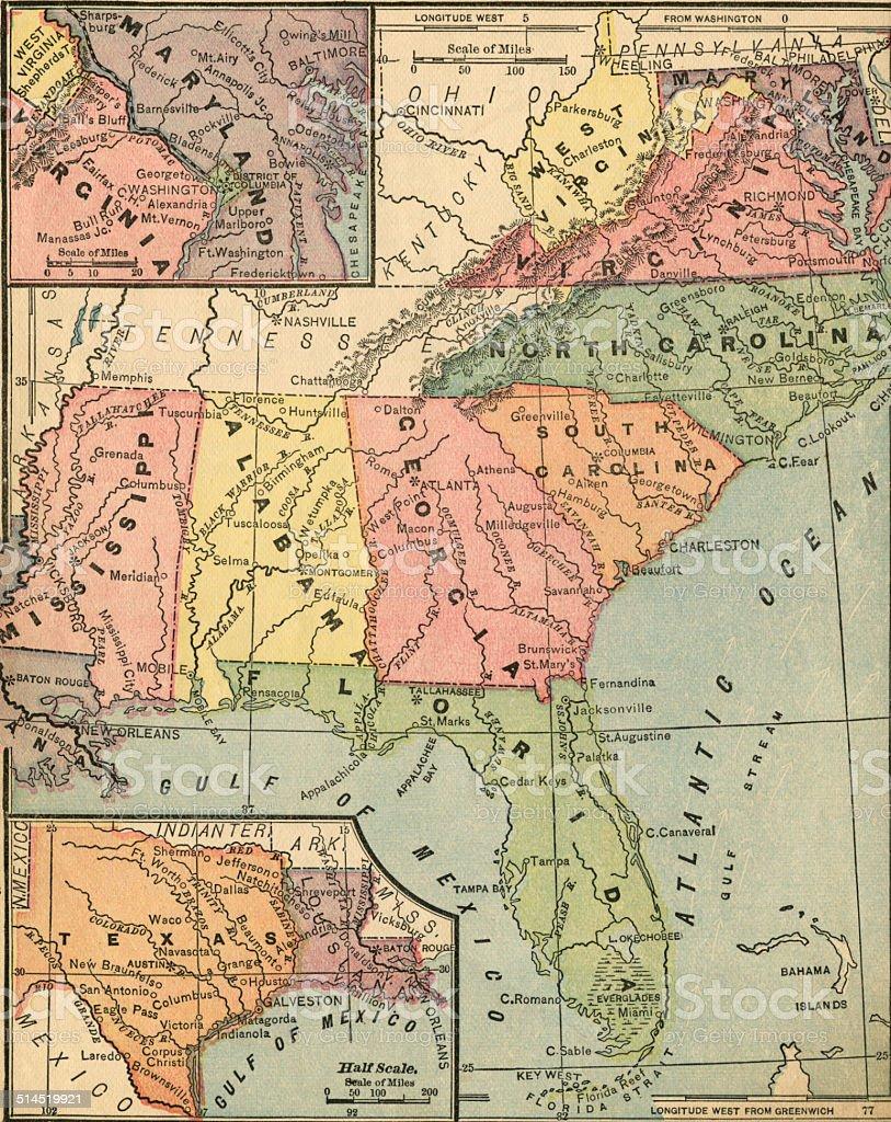 Southern states stock photo