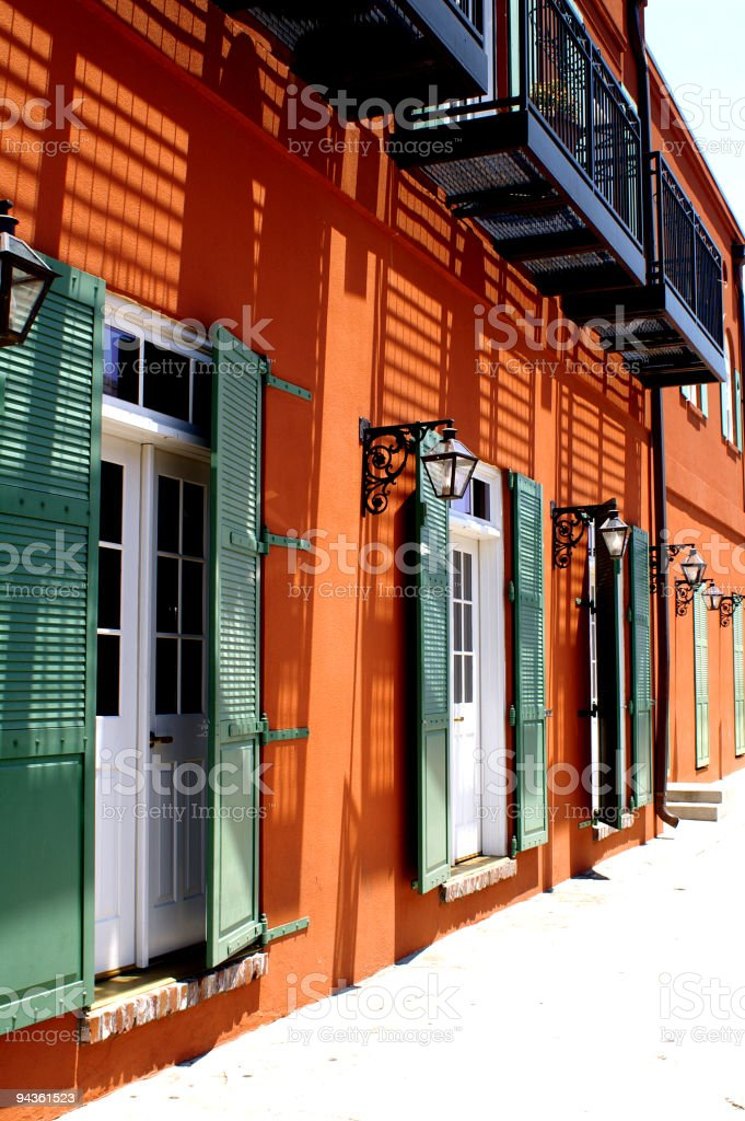Southern Style Architecture 2 royalty-free stock photo