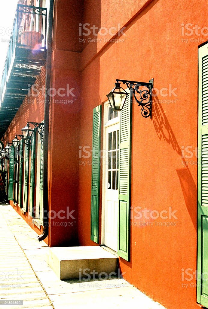 Southern Style Architecture - Building on Beale Street royalty-free stock photo