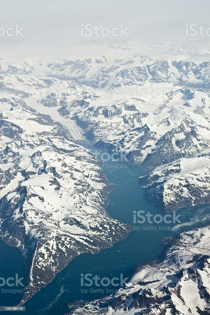 Southern tip of Greenland stock photo