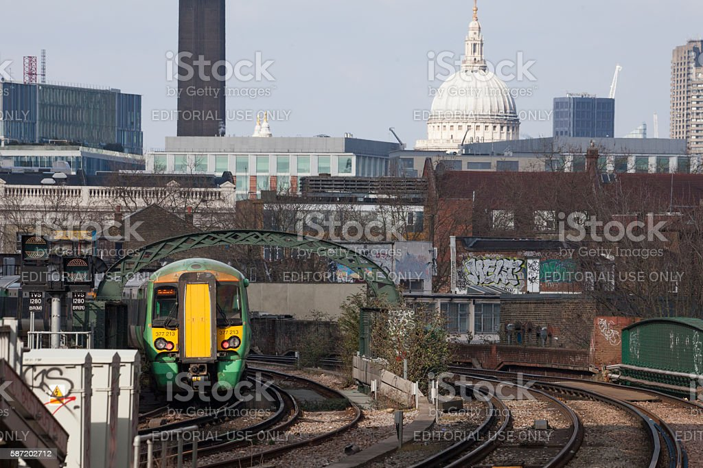 Southern Train Service GTR St Paul's Cathedral stock photo
