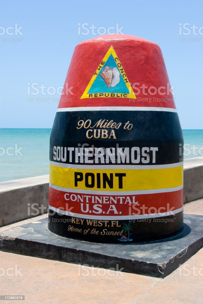 USA Southernmost Point royalty-free stock photo