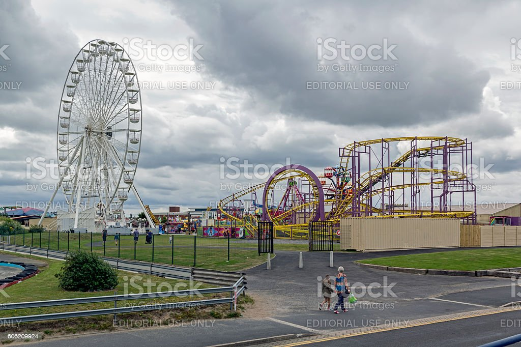 Southport Pleasureland stock photo